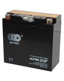 Аккумулятор 6MTC-12 Ас YT14B-4 MF Outdo 12V, Фото 1