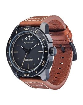 Годинник Alpinestars Tech Watch 3H matt black ltr. st.brown, Фото 1