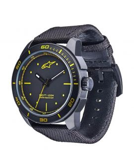 Часы Alpinestars Tech Watch 3H nylon strap black/yellow, Фото 1