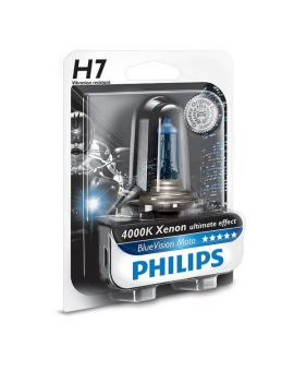 Philips BlueVision Moto H7 12V 55W (4000K), Фото 1