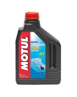 """Масло для моторів човнів Motul Inboard Tech 4T 15W50 """"2L"""", Фото 1"""