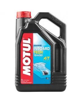 """Масло для моторів човнів Motul Inboard Tech 4T 15W50 """"5L"""", Фото 1"""