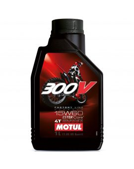 "Масло моторное Motul 300V 4T Factory line Off Road 15W60 ""1L"", Фото 1"