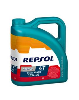 "Масло моторное Repsol Nautico Diesel Board 4T 15W40  ""4L"", Фото 1"