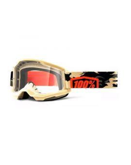 Очки для кросса 100% Strata 2 Goggle Kombat clear lens, Фото 1
