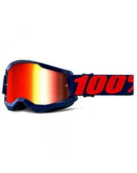 Очки для кросса 100% Strata 2 Goggle Masego mirror red lens, Фото 1