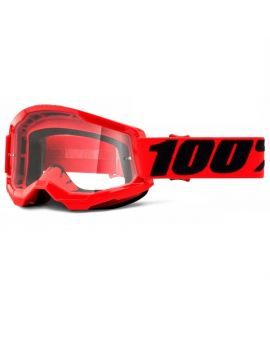 Окуляри для кросу 100% Strata 2 Goggle Red clear lens, Фото 1
