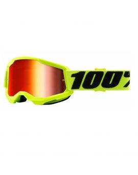 Очки для кросса 100% Strata 2 Goggle Yellow mirror red lens, Фото 1