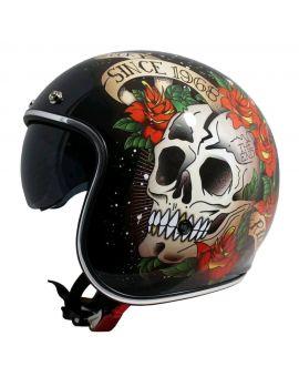 Шлем MT LE Mans 2 Skull&Roses, Фото 1